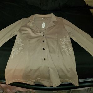 Embroidered Button up jacket